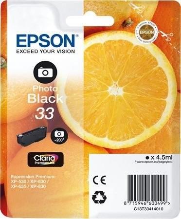 Epson 33 photo BK (C13T33414010) OEM