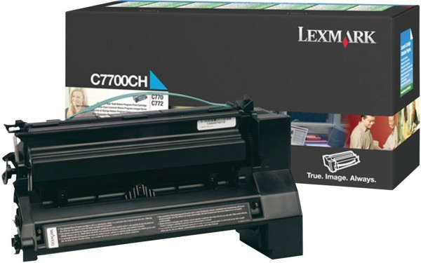 Original Lexmark Toner C7700CH cyan für C772 C770