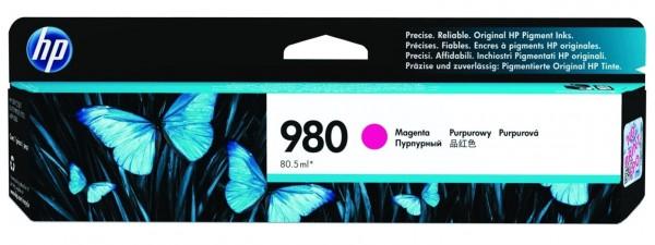 Original HP Tinte 980 magenta für OfficeJet Enterprise Color X 555 580 585 MHD