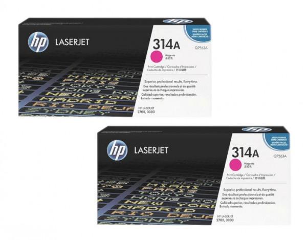2x Original HP Toner 314A Q7563A für Laserjet 2700 3000 Neutrale Schachtel