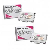 2x Original Lexmark Toner 15W0901 magenta für C 720 / X 720 Series Neutrale Schachtel