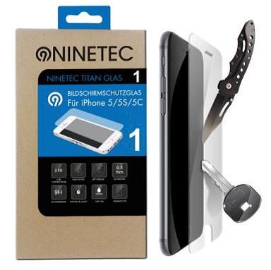 NINETEC Titanglas Schutzfolie für iPhone 5/5S/5C