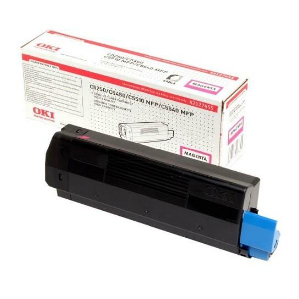 Original OKI Toner 42127455 magenta für C5150n 5250dn 5250n 5450dn B-Ware