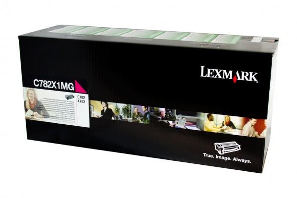 Original Lexmark Toner C782X1MG magenta für C 782 X782 Neutrale Schachtel