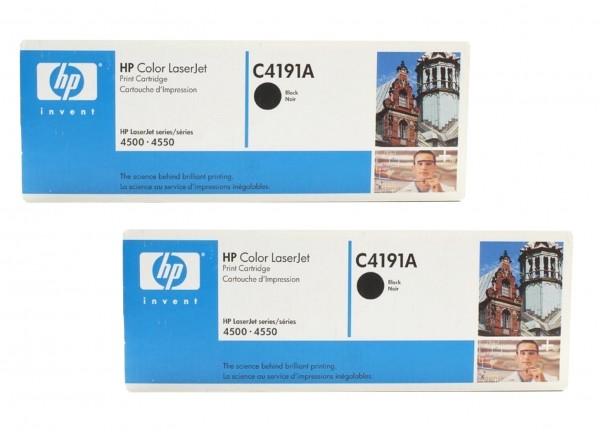 2x Original HP Toner C4191A für Color Laserjet 4500 4500dn Neutrale Schachtel
