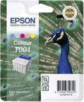 Original Epson Tinten Patrone T001 farbig für Stylus Photo 1200