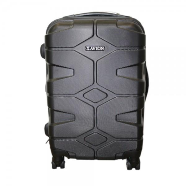 Xavion Bordgepäck Handkoffer, 25% mehr Volumen durch Dehnfalte (grau panzermuster)