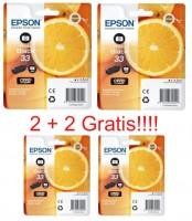 2 x Original Epson 33 Photo Tinte Patrone XP540 XP640 XP900 XP530 XP630 XP635 XP830