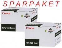 2x Original Canon Toner 1384A002 NPG-13C schwarz für NP 6028 6035 6230