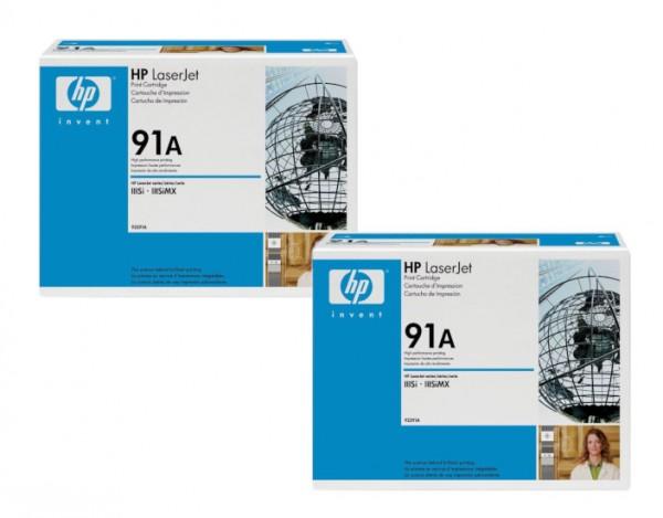 2x Original HP Toner 91A 92291A für LaserJet 4 IIISi 4Si 4SiMX Neutrale Schachtel