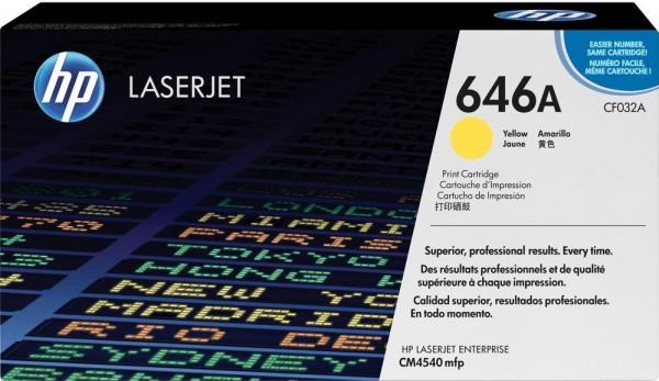 Original HP Toner CF032A gelb für Laserjet Enterprise CM 4500 4540 Neutrale Schachtel