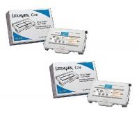 2x Original Lexmark Toner 15W0900 cyan für C 720 / X 720 Neutrale Schachtel