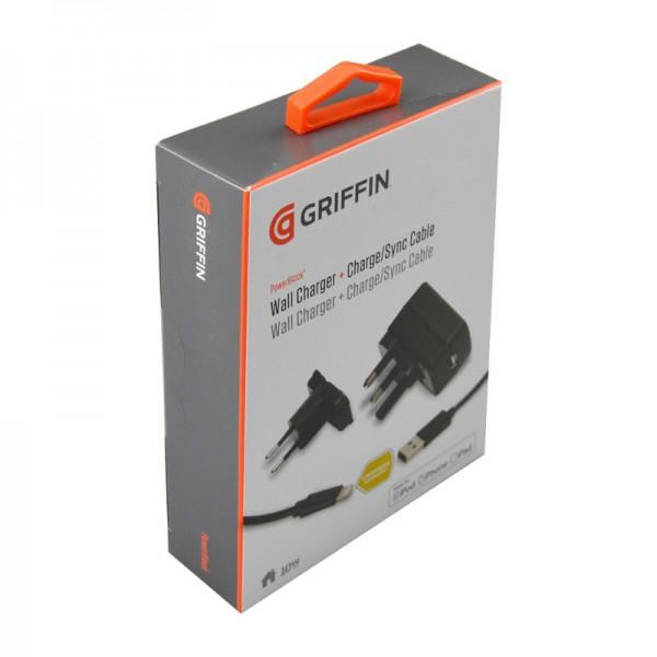 47624_Griffin_Wandladegerät_+_Lade-Synchronisationkabel_für_iPod_Touch_Nano_iPhone_5_iPad
