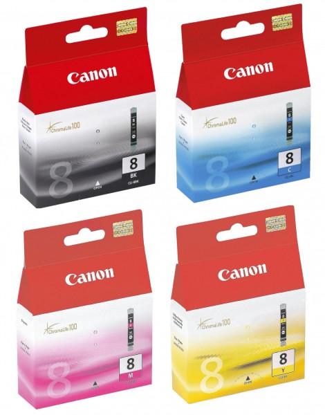 4x Original Canon CLI-8 Tinte Patrone für IP 4200 4300 4500 5200 6600 6700 MP 530