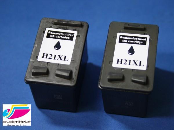 2x DRUCKER PATRONE für HP 21 XL DESKJET F370 F 375 F380 F2180 F2224 F2280 F4180