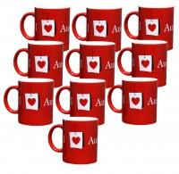10x Austrian Kafeetasse 330 ml Tee Kafee Tasse Becher