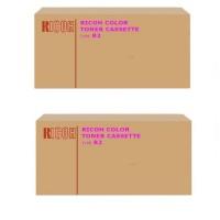 2x Original Ricoh Toner Type R2 888346 magenta für Aficio 3228C 3235C 3245C B-Ware