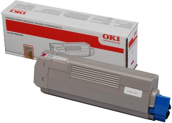 Original OKI Toner 44315306 magenta für C 610 B-Ware