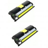 2x Original Konica Minolta Toner 1710589-005 gelb für Magicolor 2400 B-Ware