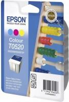 Original Epson Tinten Patrone T0520 farbig Stylus 64 66 84 3600 6400
