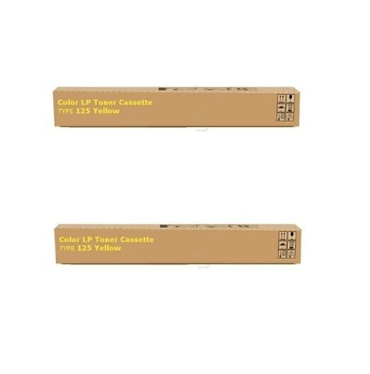 2x Original Ricoh Toner 400841 gelb für Aficio CL 2000 3000 3100