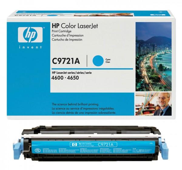 Original HP Toner C9721A 641A für Color Laserjet 4600 4600DN 4650 Neutrale Schachtel