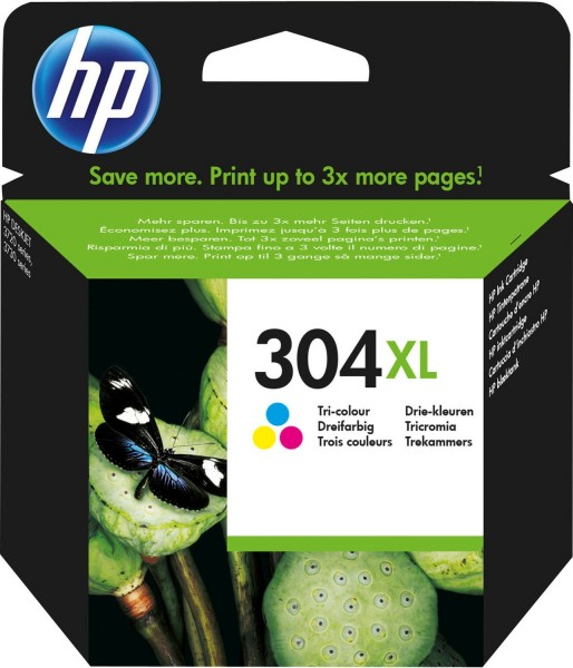 Original HP 304 XL Tinte Patronen farbig für DESKJET 2620 2630 3720 3730 MHD