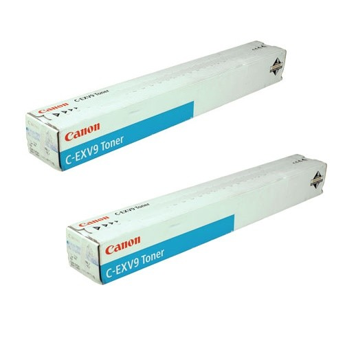 2x Original Canon Toner 8641A002 C-EXV 9 cyan iR 3100 3170 2570 Neutrale Schachtel