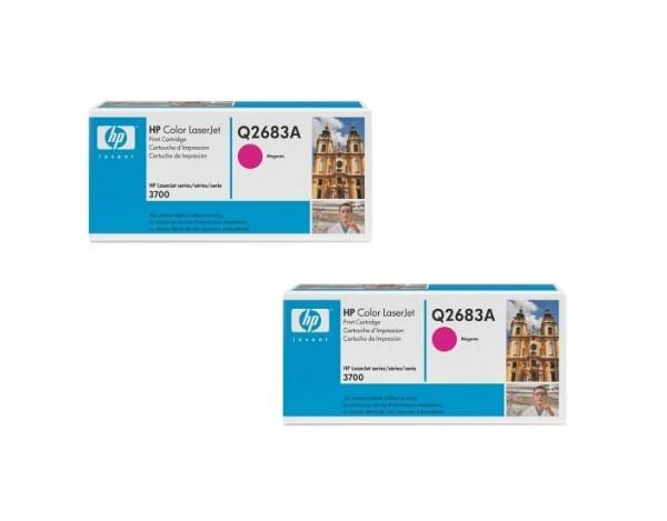 2x Original HP Toner 311A Q2683A für Color Laserjet 3700 3700DN 3700DTN