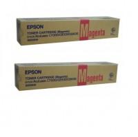 2x Original Epson Toner C13S050040 magenta für AcuLaser C8500 C8500PS
