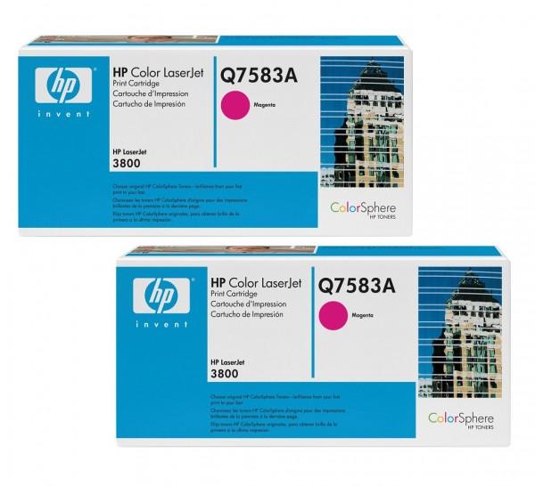 2x Original HP Toner 503A Q7583A magenta für LaserJet CP3505 3800 Neutrale Schachtel