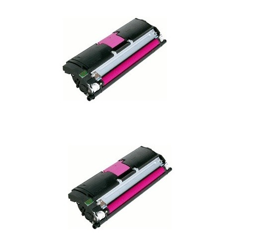2x Original Konica Minolta Toner 1710589-006 magenta für Magicolor 2400