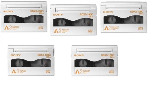 5x Sony SDX3-100C - AIT-3 Data Cartridge Datenkassette