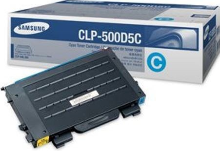 Original SAMSUNG Toner CLP-500D5C Cyan für CLP-500 550 Neutrale Schachtel