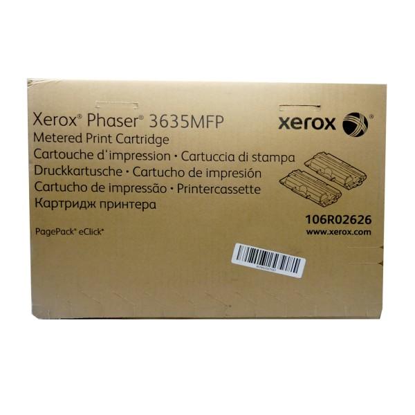 Original Xerox Toner 106R02626 schwarz für Phaser 3635 MFP Neutrale Schachtel