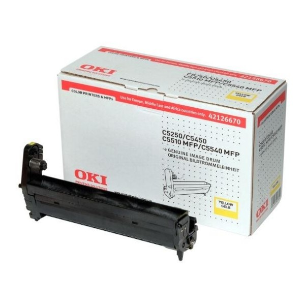 Original OKI Toner 42126670 gelb für C5250 C5450