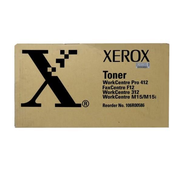 Original Xerox Toner 106R00586 schwarz für WC M 15 WC Pro 412 B-Ware