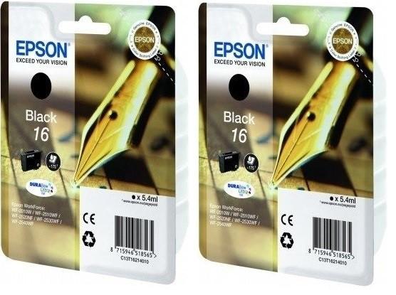 2x Original Epson 16 Tinte Patrone WF2510WF WF2520NF WF2530WF WF2540WF WF2760