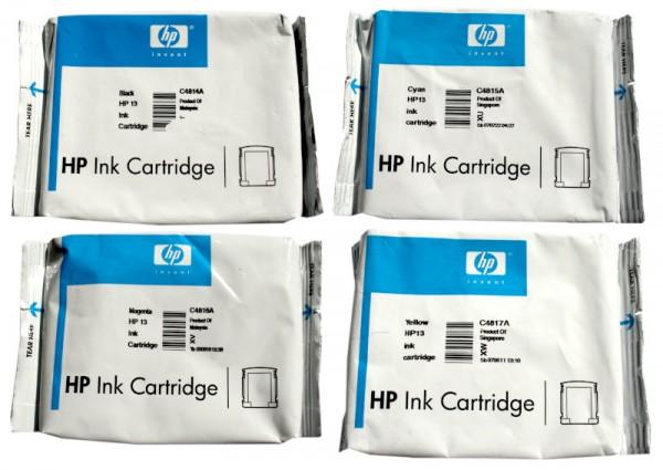 4x Original HP Tinte 13 C4814/5/6/7A für OfficeJet Pro K 850 Blister