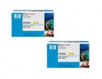 2x Original HP Toner C9722A 641A gelb für Color LaserJet 4600 4610 4650 B-Ware