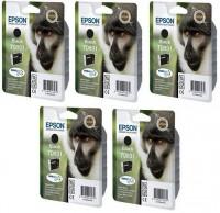 5 Original Epson Tinte T0891 Patronen Stylus Office BX300F S20 S21 SX100 SX105 SX110
