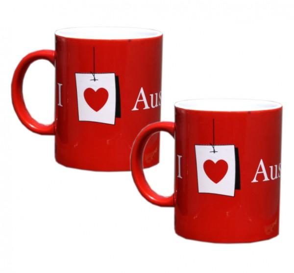 2x Austrian Kafeetasse 330 ml Tee Kafee Tasse Becher