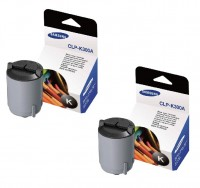 2x Original Samsung Toner CLP-K300A für CLP 300 CLX 2160 3160 B-Ware