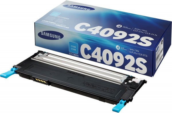 Original SAMSUNG Toner CLT-C4092S Cyan für CLP-310N CLP-315W CLX-3170
