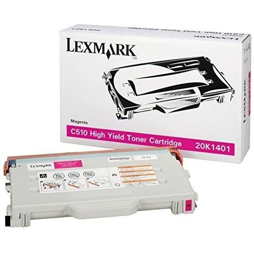 Original Lexmark Toner 20K1401 magenta für C 510 DTN N Neutrale Schachtel
