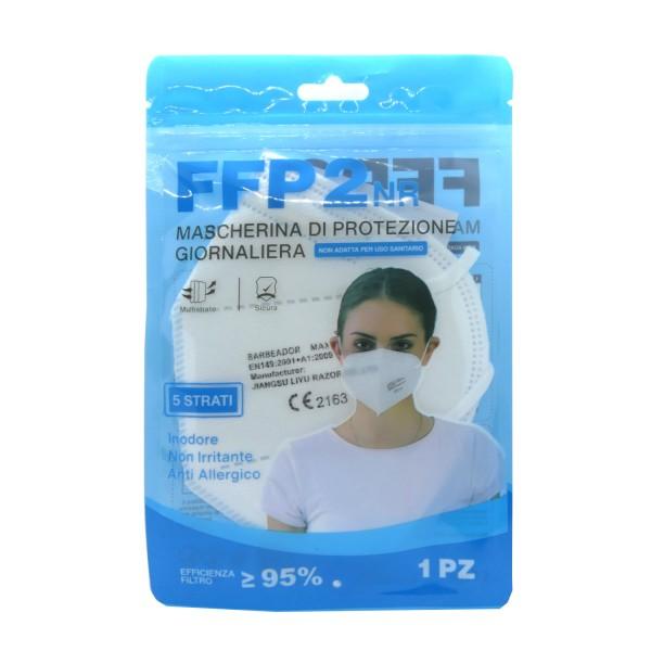 46016_1_Stück_FFP2_Atem_Schutzmaske_Mundschutz_CE_2163_Barbeador_blaue_Verpackung