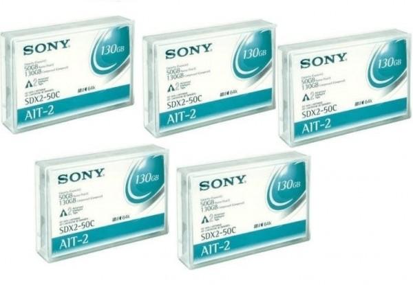 5x Sony SDX2-50C - AIT-2 Data Cartridge Datenkassette