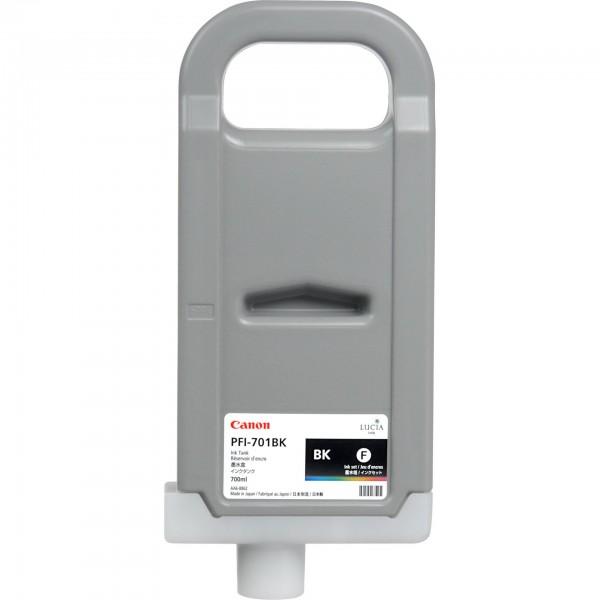 Original Canon Tinte PFI-701BK schwarz imagePROGRAF IPF 8000 9000 MHD