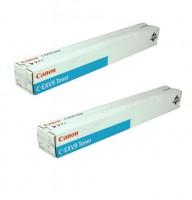 2x Original Canon Toner 8641A002 C-EXV 9 cyan iR 3100 3170 2570 B-Ware
