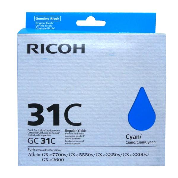 42518_Original_Ricoh_Gel_Patrone_GC-31C_cyan_für_Aficio_GX_e_2600_3300_3350_AG